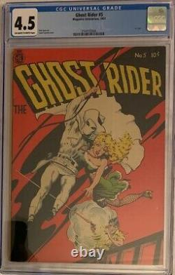 (1951) GHOST RIDER #5 CGC 4.5 OWithWP! Dick Ayers art! FRANK FRAZETTA Cover