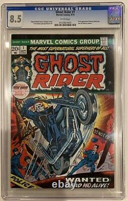 (1973) GHOST RIDER #1 1st cameo Damion Hellstrom! CGC 8.5 WP