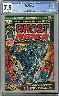 1973 Ghost Rider 1 CGC 7.5 White Pages