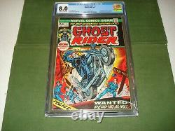 1973 Ghost Rider #1 Cgc 8.0, Great Looking Comic, Marvel, 1st Series