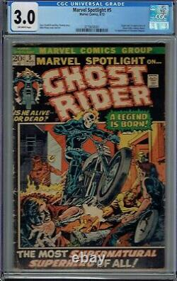 Cgc 3.0 Marvel Spotlight #5 1st Appearance Ghost Rider Johnny Blaze Ow Pages
