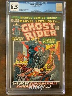 Cgc 6.5 Marvel Spotlight #5 White Pgs 1st Appearance Ghost Rider