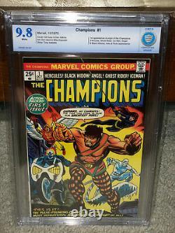 Champions #1 CBCS 9.8 Marvel 1975 1st App! Ghost Rider! WP! Free CGC mylar! Cm