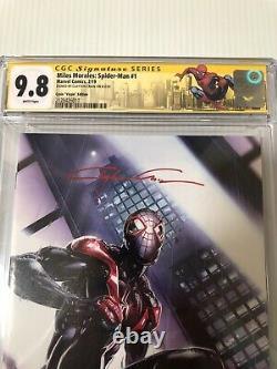 Clayton Crain Signed Miles Morales Spider Man #1 Virgin Marvel Comics 9.8 CGC
