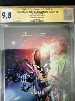 Cosmic Ghost Rider Destroys Marvel History #1 CGC 9.8 SS Crain Infinity Sig