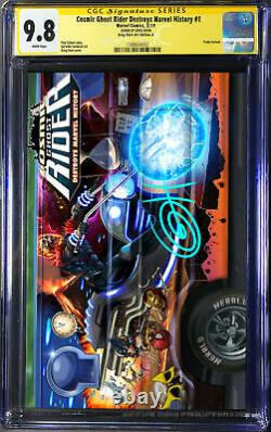 Cosmic Ghost Rider Destroys Marvel History # 1 CGC 9.8 SS Signed by Greg Horn