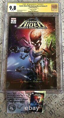 Cosmic Ghost Rider Destroys Marvel History #1 CGC 9.8 -Signed Clayton Crain