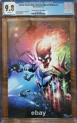 Cosmic Ghost Rider Destroys Marvel History #1 Clayton Crain Virgin CGC 9.8 w\COA