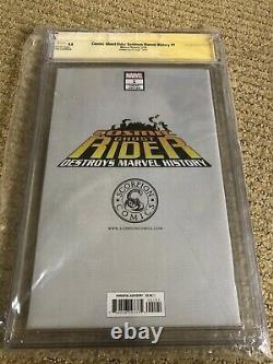 Cosmic Ghost Rider Destroys Marvel History #1 SS Cgc 9.8 Virgin Variant Crain