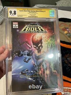 Cosmic Ghost Rider destroys marvel history 1 CGC 9.8 SS Clayton Crain