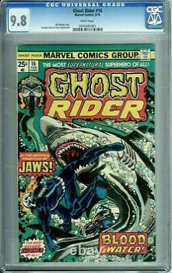 GHOST RIDER 16 CGC 9.8 WP JAWS MOVIE HIGHEST GRADE 1of6 RARE Marvel Comics 1976