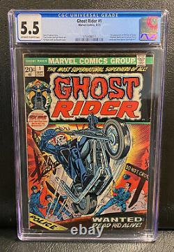 GHOST RIDER #1 (1973) CGC 5.5 1st Appearance Son Of Satan Daimon Hellstrom