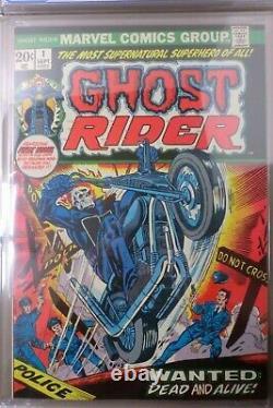 GHOST RIDER #1 1973 CGC 8.0 1st APP HELLSTORM SON OF SATAN 91002