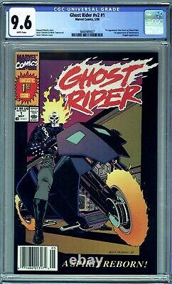 GHOST RIDER #1 (1990) CGC 9.6 NM+ WHITE PAGES 1st DANNY KETCH NEWSSTAND EDITION