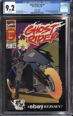 GHOST RIDER #1 (1990 Marvel) CGC 9.2 NM- 1st Dan Ketch RARE SECOND PRINT