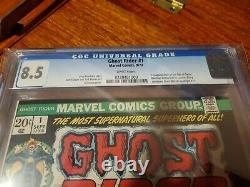 GHOST RIDER #1 CGC 8.5 WHITE PAGES 1st App. Son Of Satan Daimon Hellstrom 1973