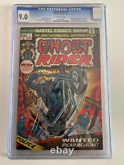 GHOST RIDER #1 CGC 9.0 1st Cameo Son of Satan Easy 9.6, Old CGC label
