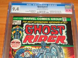 GHOST RIDER #1 CGC 9.4 NM (1st Cameo Son of Satan Daimon Hellstrom OWithW)