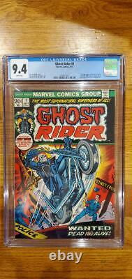 GHOST RIDER #1 CGC 9.4 White Pages 1st APP. SON OF SATAN SEPT. 1973 MEGA KEY