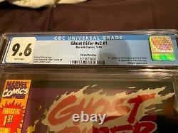 GHOST RIDER #1 CGC 9.6 1990 Marvel SUPER RARE 2ND PRINT ERROR! DANNY KETCH