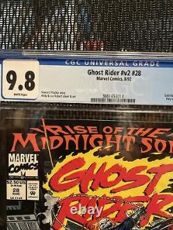 GHOST RIDER 28 VOL 2, 1992, CGC 9.8, 1st App The Midnight Sons and Lilith, MCU