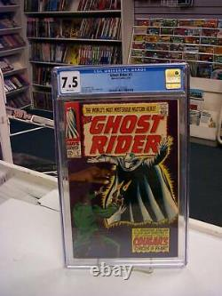 GHOST RIDER #3 (Marvel, 1967) CGC 7.5 Mysterious Western Hero White Pages