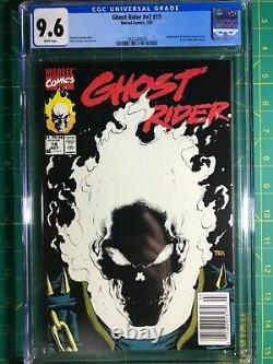 Ghost Rider #15 CGC 9.6 Scarce Newsstand Edition 1st Glow In The Dark Cover