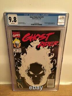 Ghost Rider #15 NEWSSTAND Glow Cover Marvel 1991 CGC 9.8 NM