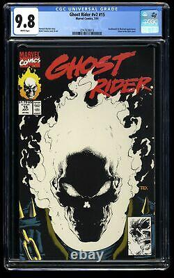 Ghost Rider (1990) #15 CGC NM/M 9.8 White Pages Glow in the Dark Cover