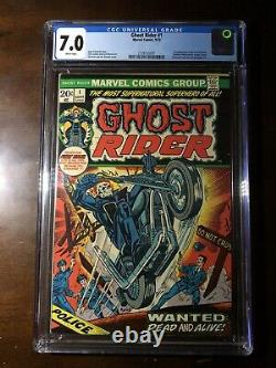Ghost Rider #1 (1973) 1st Son of Satan! CGC 7.0 Key! White Pages