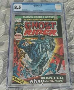 Ghost Rider #1 1973 CGC 8.5 1st App Son of Satan Daimon Hellstrom White Pages