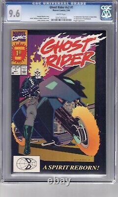 Ghost Rider #1(1990) CGC 9.6 WP'1st App. Deathwatch & Dan Ketch as Ghost Rider