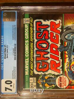 Ghost Rider #1 9/73 Cgc 7.0 White Pages! First Issue! Very Nice Key Book