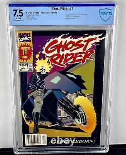 Ghost Rider #1 CBCS 7.5! 1st Danny Ketch! Newsstand Edition! 1990! Not CGC
