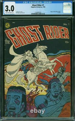 Ghost Rider #1 CGC 3.0 Magazine Enterprises 1950 Origin! Rare! L9 215 cm clean