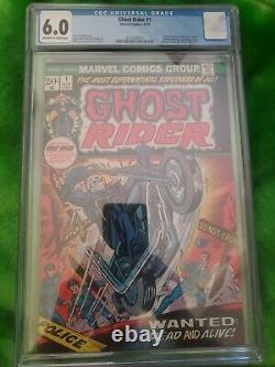 Ghost Rider #1 CGC 6.0 Comic Book 1st App Son of Satan Marvel Bronze 1973