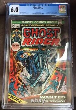 Ghost Rider #1 CGC 6.0 OW to White pages 1st Son of Satan