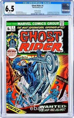 Ghost Rider #1 CGC 6.5 -1st App Damion Hellstrom Son Of Satan U. K. Price Variant