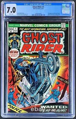 Ghost Rider #1 CGC 7.0! FN/VF 1st Issue! (1972)