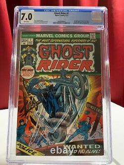 Ghost Rider #1 CGC 7.0, MEGA KEYS! 1st Solo Series, Son of Satan Cameo, MCU 1973