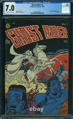 Ghost Rider #1 CGC 7.0 Magazine Enterprises 1950 Origin! Rare! H9 354 cm