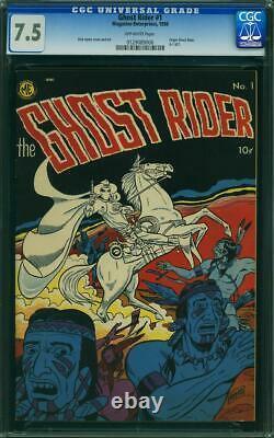 Ghost Rider #1 CGC 7.5 Magazine Enterprises 1950 Origin! Rare! K10 126 cm clean