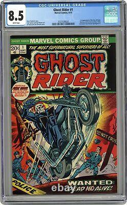 Ghost Rider #1 CGC 8.5 1973 3727538020 1st app. Daimon Hellstrom (Son of Satan)