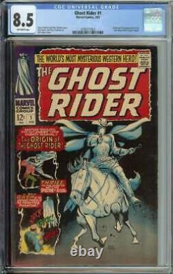 Ghost Rider #1 CGC 8.5 Origin and 1st App Carter Slade
