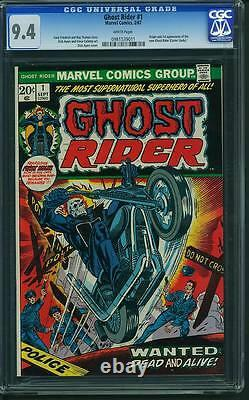 Ghost Rider #1 CGC 9.4 1973 Nick Cage White! 911 cm clean