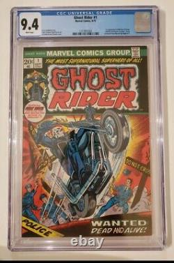Ghost Rider #1 CGC 9.4 Only One For Sale With WHITE PAGES AND GREAT CENTERING