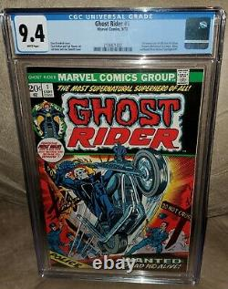 Ghost Rider #1 CGC 9.4 White Pages 1st Hellstrom FREE SHIP