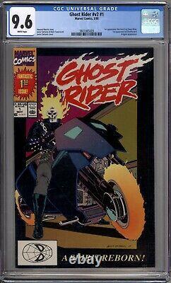 Ghost Rider 1 CGC Graded 9.6 NM+ Marvel Comics 1990