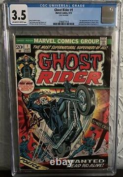 Ghost Rider #1 Cgc 3.5 1973 1st Appearance Of The Son Of Satan Daimon Hellstrom