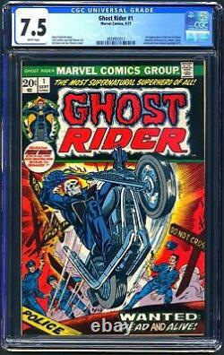 Ghost Rider #1 Cgc 7.5 Wp Vf 1st Son Of Satan Cameo 1973